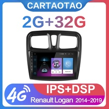 2G + 32G 9 #8243 2din Android 8 1 GO Car Radio DVD Player for Renault Logan Sandero Symbol 2014-2019 Car Radio GPS WIFI IPS Player cheap cartaotao Double Din 50W*4 JPEG Aluminum alloy + ABS + capacitive touch screen 1024*600 1 7kg Bluetooth Built-in GPS Charger