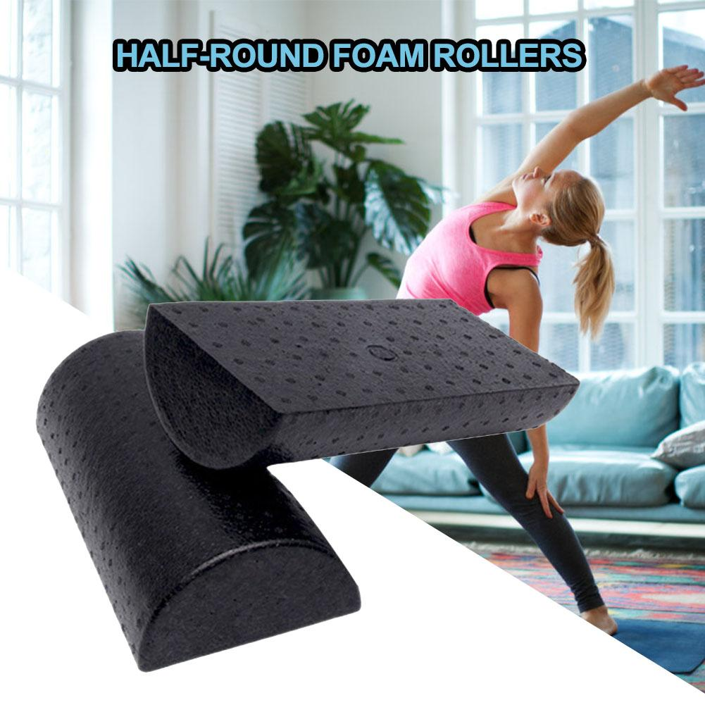 1pc 30cm Half Round EVA Foam Roller For Yoga Pilates Sport Fitness Equipment Balance Pad Yoga Blocks With Massage Floating Point
