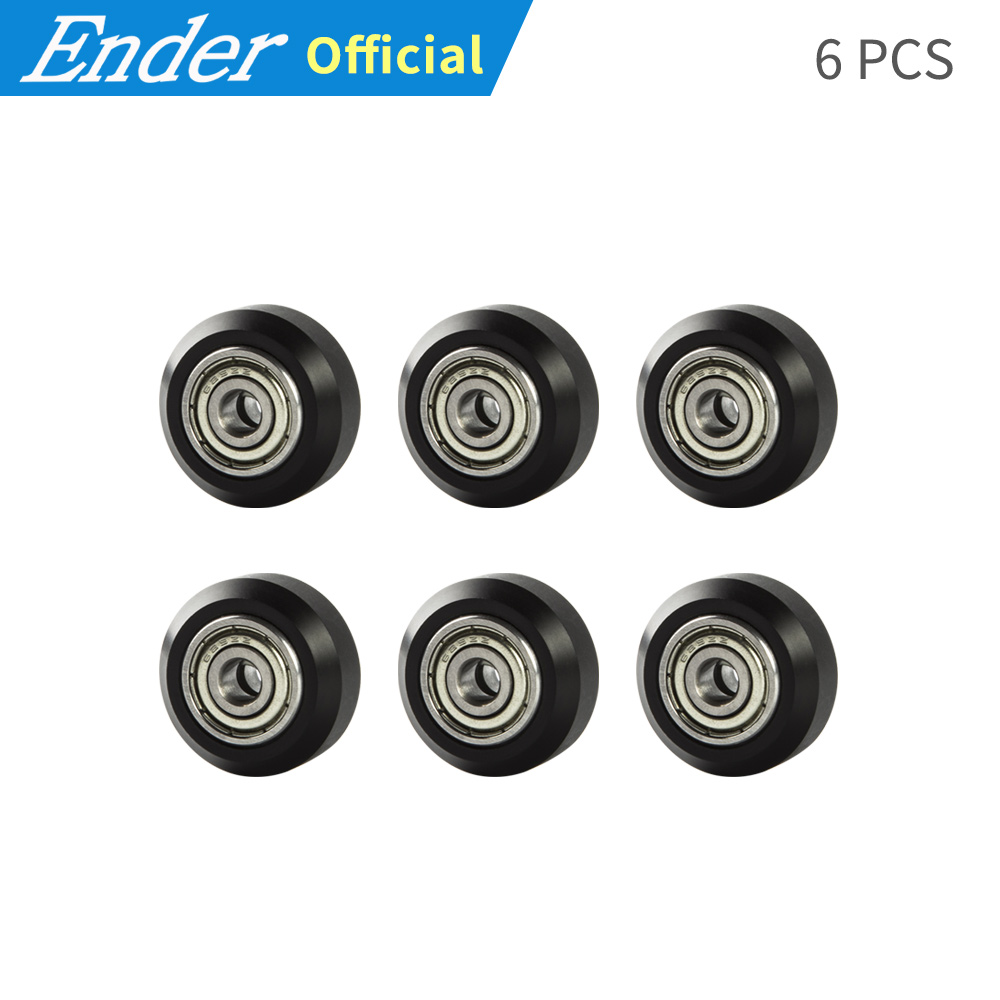 6Pcs Embedded Bearing Pulley Package plastic Bearing pulley windows small wheel for Carriage plate 3D printer part|3d wheel|for 3d printerwheels for - AliExpress