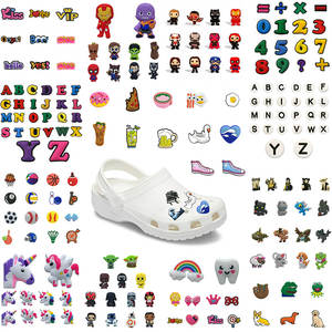Shoes-Accessories Decorations Flower Medical-Supply Croc JIBZ Unicorns Animals PVC DHL