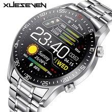 Мужские Смарт-часы XUESEVEN 2021 HD Full circle с сенсорным экраном, IP68 Водонепроницаемые спортивные фитнес-часы, Модные Смарт-часы для мужчин