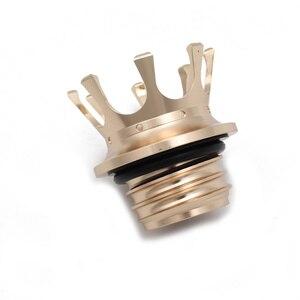 Image 5 - Motorrad Gold/Silber/Schwarz Aluminium Flush Rechts hand Gewinde Reservoir König Crown Stil Gas Kraftstoff Tank Kappe entlüftet Für Harley