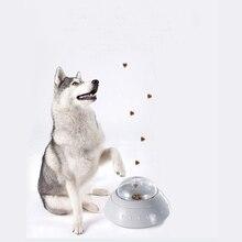 ПЭТ утечка кормушка пластиковая медленная пища утечка чаша кормушка с колесами игры Обучающие игрушки для собак и кошек