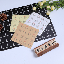 160Pcs/pack Thank You Love Seals Transparent White Leather Color Three Choices Circle For Homemade Products