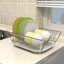 304 Stainless Steel Drying Dish Rack Kitchen Organizer Drain Holder Plate Storage Shelf Sink Drainer Cutlery  Accessories