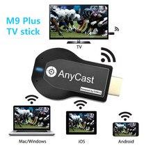 M9 mais tv vara wi-fi display receptor anycast dlna miracast airplay espelho tela hdmi-compatível adaptador android ios dongle