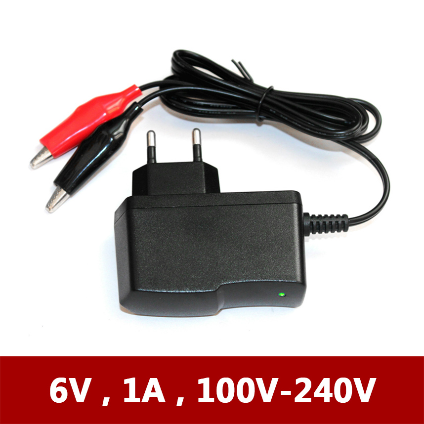 Universal 6V 1A Electric Toy Kids Children Scooter Car Motorcycle Battery Charger for 6 V Volt Lead-Acid Dry Batteries Charging