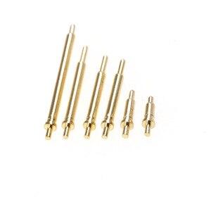 10 шт. пружинный контактный разъем Pogo с отверстиями PCB высота 3 4 5 6 7 8 9 10 11 12 13 14 15 16 20,5 мм фланец один 1A