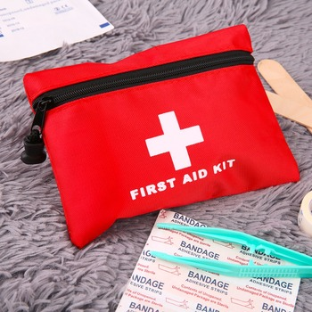 Portable Mini First Aid kit bag style Waterproof Outdoor Travel Car first aid box Small Bag Emergency Survival kit Household image