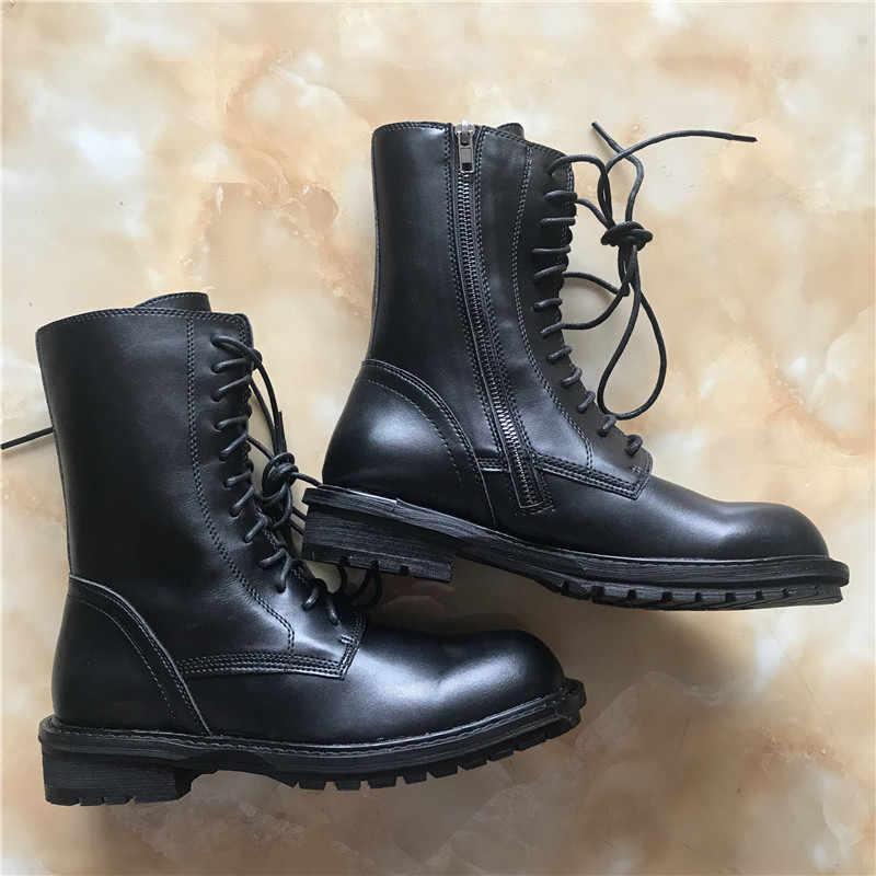 Jady Hoa Hồng 2020 Mới Nóng Đen Mềm Mại Nữ Da Mắt Cá Chân Giày Phối Ren Bằng Giản Người Phụ Nữ Ngắn Boot Đi Xe giày Đế Bằng