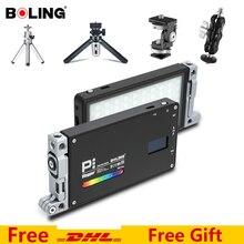 볼링 BL P1 RGB P1 2500K 8500K 디 밍이 가능한 풀 컬러 LED 비디오 라이트 사진 비디오 스튜디오 DSLR 카메라 라이트 Vlogging 라이브