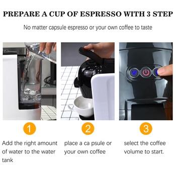 Italian Espresso Electric Coffee Capsule Machine 3 in 1 For Nestle Capsules Kitchen Appliances 19 bar Coffee Machine Sonifer 3
