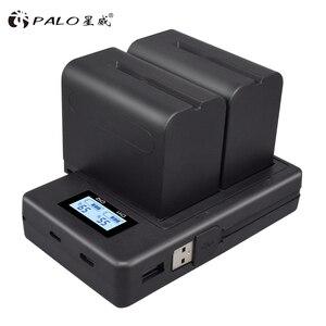 Image 5 - PALO Dual Channel Caricabatteria Kit per SONY NP F550 FM50 FM500H F970 F960 F770 F750 F570 FX1000E BC V615, BC V615A Batterie