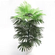 Palmier tropical de 90cm, grandes plantes artificielles, faux Monstera, feuilles de palmier en soie, grande feuille d'éventail pour la maison, le sol, la chambre, le jardin, décor de noël