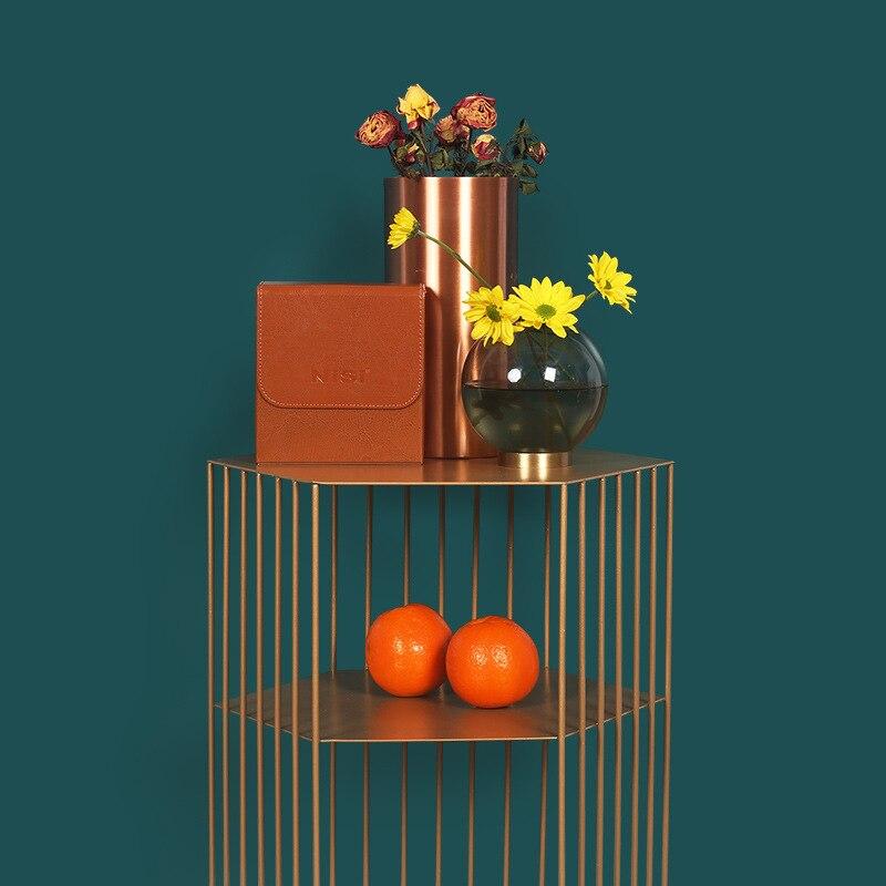 Скандинавский металлический многоугольный цветок подставка железная многофункциональная полка современный минималистичный органайзер д... - 4
