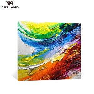 YYR-ARTLAND современная абстрактная Красочная картина для украшения дома ручная роспись маслом на холсте настенный художественный плакат для к...