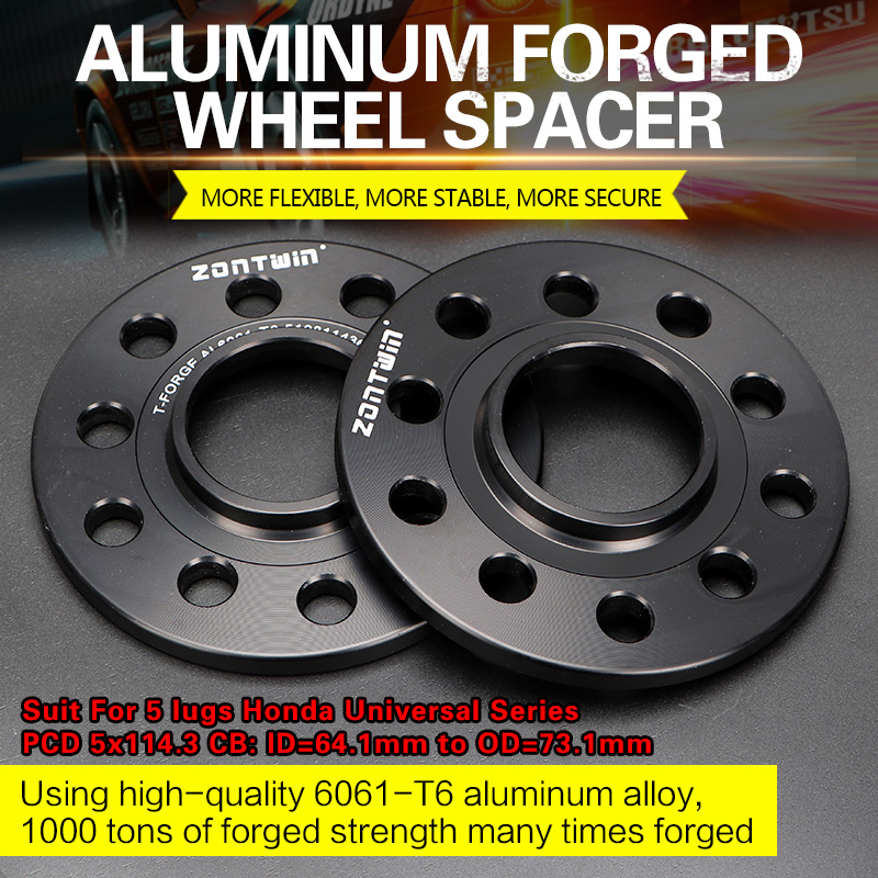 2/4PCS 3/5/8/10/12mm Wheel Spacers Conversion Adapters PCD 5x114.3 CB: ID=64.1mm To OD=73.1mm Suit For 5 Lugs Honda