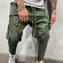 HEFLASHOR модные новые уличные спортивные брюки для мужчин повседневная спортивная одежда брюки однотонные Модные мужские спортивные брюки в стиле хип-хоп
