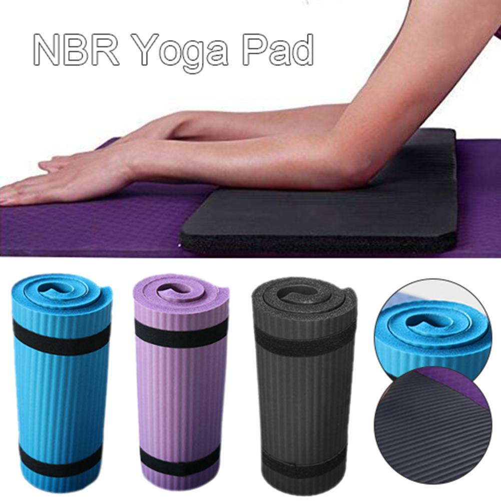 Yoga Mat Thick NBR Yoga Pad for Workout Training Abdominal Exercise 8