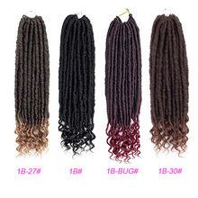 Black Star hairGoddess Locs Crochet Hair Faux Locs Crochet Hair Wavy Faux Locs with Curly Ends Synthetic Braiding Hair Extension 12inch goddess faux locs curly ends short wavy crochet braids 12strand pack afro synthetic ombre crochet braiding hair extension