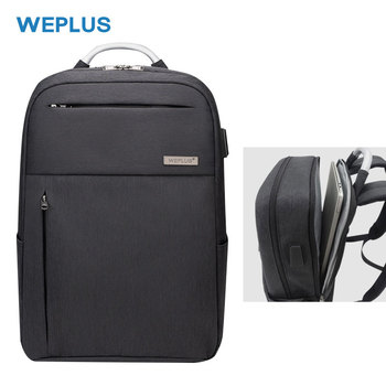 WEPLUS New Arrival 15.6 inch Laptop Backpack USB Recharging Anti-Thief Backpack with Aluminium Alloy Handle Business Fashion Bag
