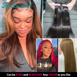 Image 2 - Rosabeauty 4 묶음/많은 10 28 인치 자연 색상 브라질 스트레이트 번들 버진 헤어 Weft 100% 인간의 머리카락 학년 10A