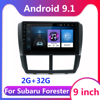 9 inch 2 din For Subaru Forester 2.5D HD 2008 2009-2013 Car Radio Multimedia Video Player Navigation GPS android 9.1 2DIN DVD image