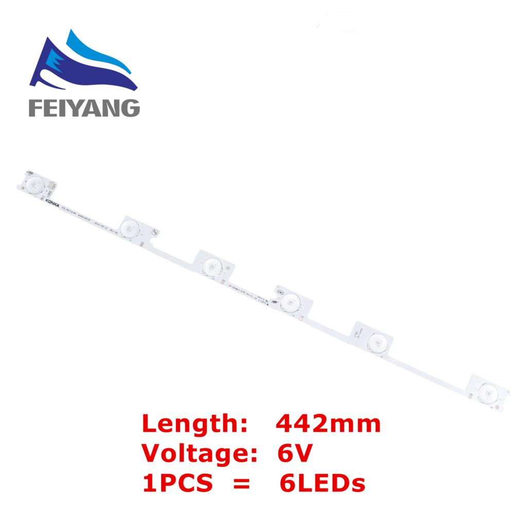 Original New 1pcs LED Strip Bar Backlight For KONKA KDL48JT618A KDL48SS618U 35018539 35018540 6LED LIGHT (6v) 442mm