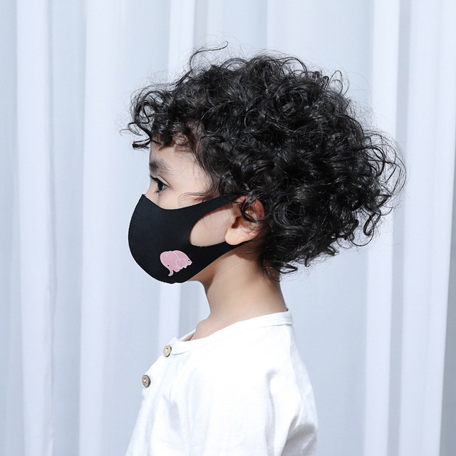 Women Men Kids Animal Black Mouth Mask Anti Dust Windproof Mouth-muffle Bacteria Proof Flu Elastic Face Masks Washable 2