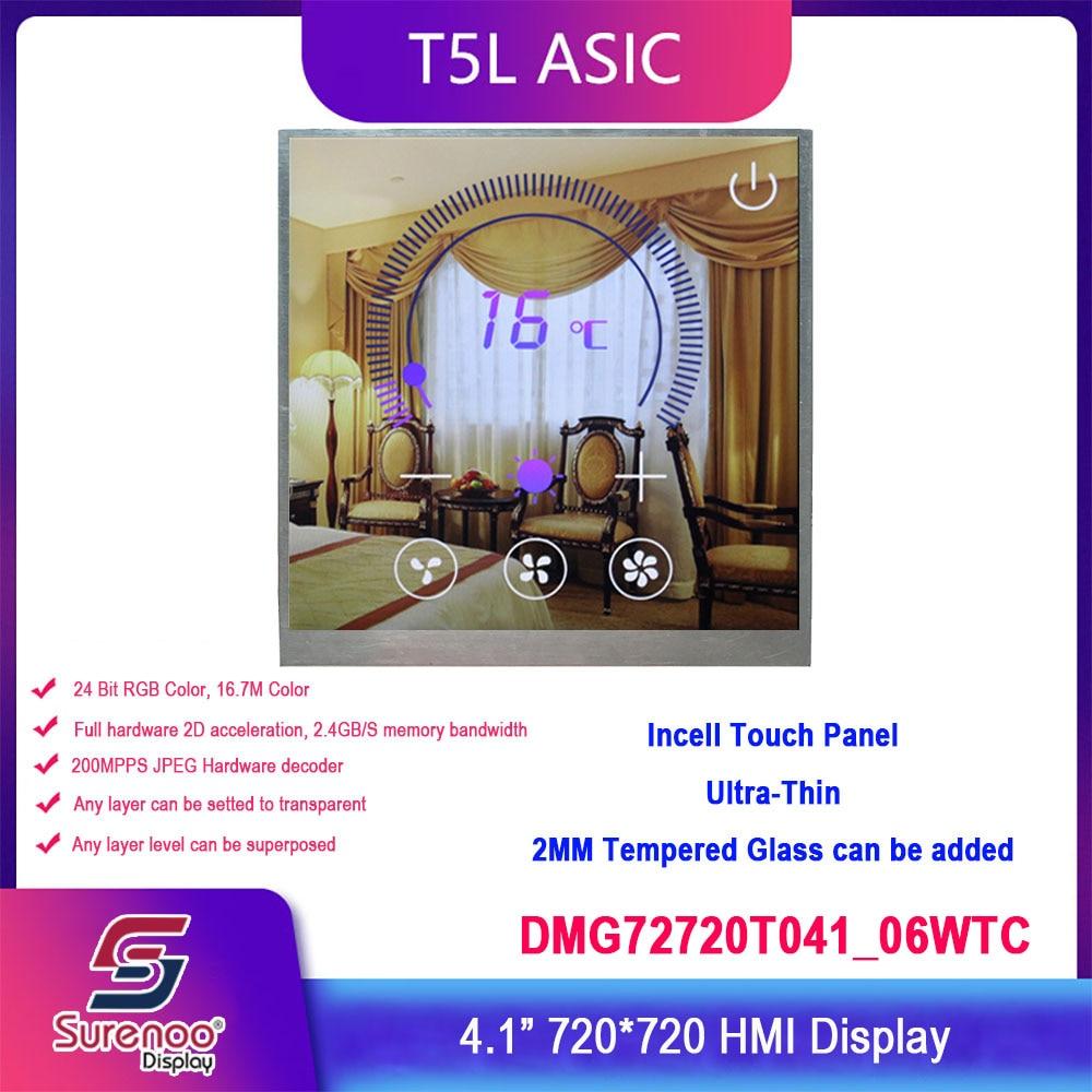 Dwin T5L HMI Intelligent Display, DMG72720T041_06WTC Industrial Level 4.1