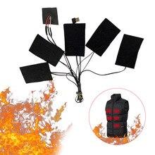 1 комплект USB электрический нагрев коврик 3 нагрев уровни зима открытый нагрев прокладки для DIY с подогревом куртка