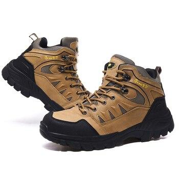 Jackshibo Men's Outdoor Hiking Shoes Mountaineer Climbing Sneakers Waterproof Tactical Hiking Shoes Men Camping Walking Boots 3