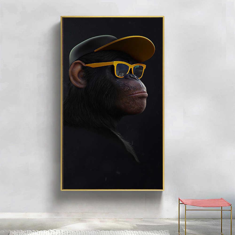 HDARTISAN Wand Kunst Leinwand Druck Tier Bild Kluge Swag Schimpanse Malerei Für Wohnzimmer Home Decor Kein Rahmen
