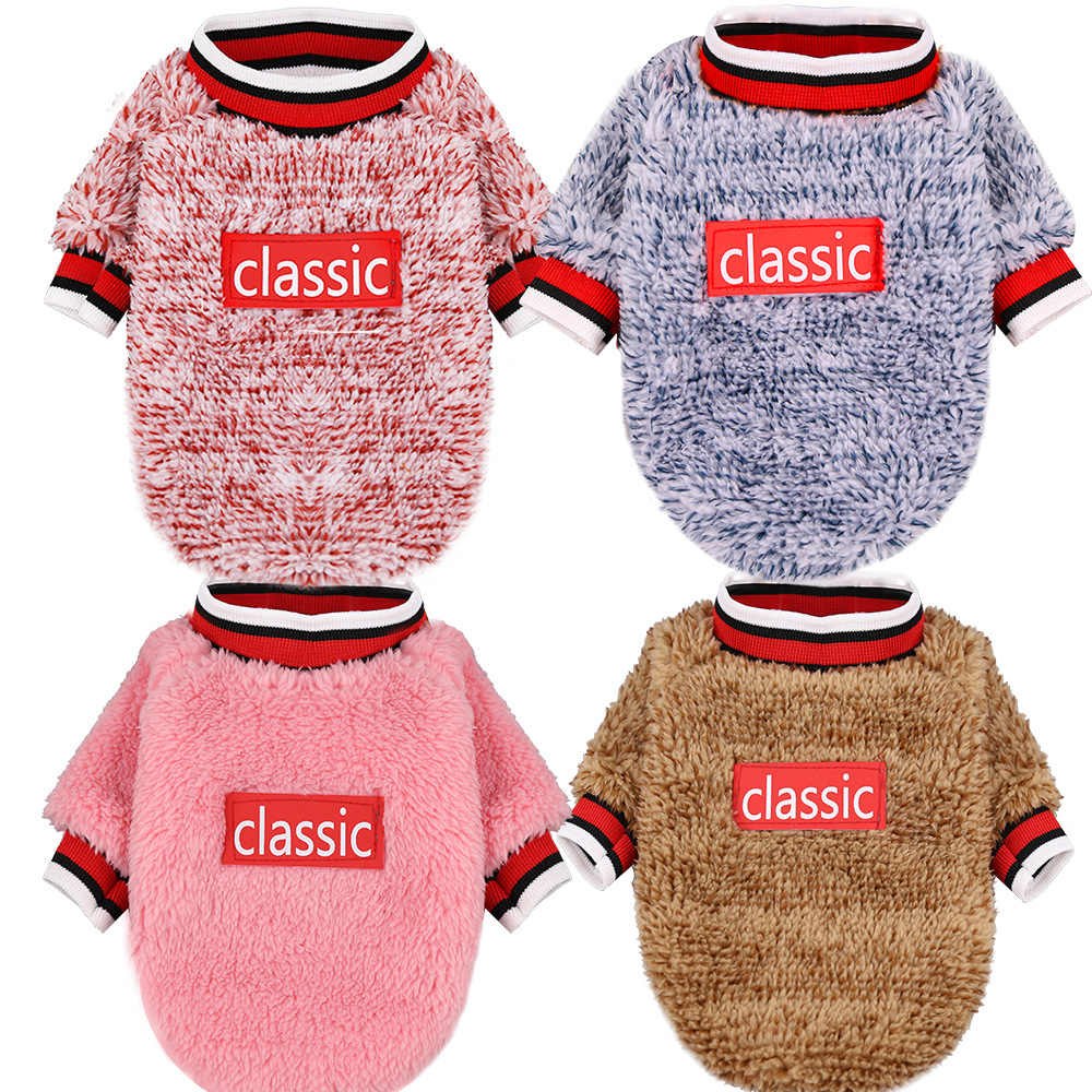 Soft Plush Winter Dog Cat Clothes Small Dog Chihuahua Clothes Sweater Costume Dogs Cats Puppy Coat Kitten Outfit Clothing Pink