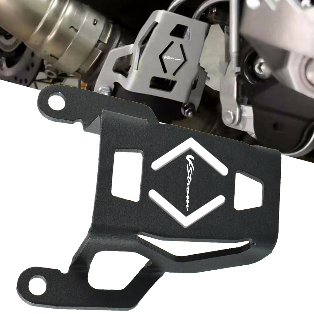 Válvula de escapamento para motocicleta, v-strom logo proteção para suzuki V-StromDL1000 v strom dl 1000 2015 2015 2016 2017 2018 2019