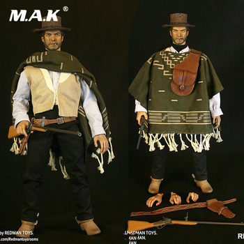 West Cowboy REDMAN TOYS 1/6 Scale RM042 The Good The Cowboy Action Figure Collectible Dolls Full Set Solider Action Figure 1