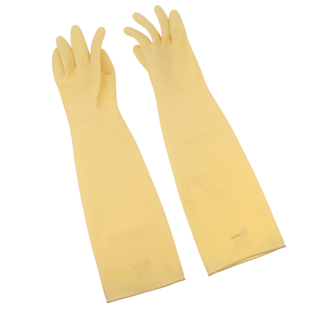 Industrial Rubber Latex Gloves 24'' Safety Gloves Anti Acid Alkali Gloves