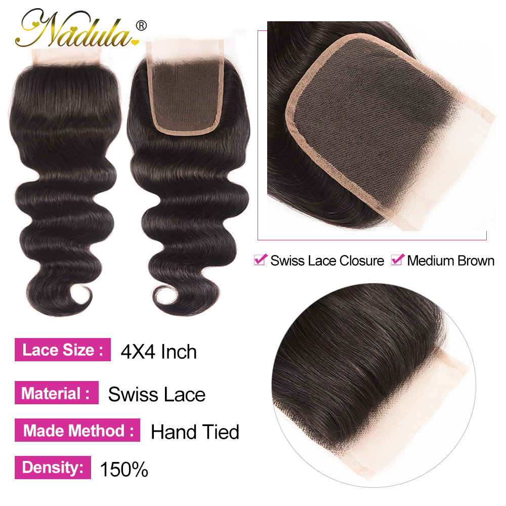 Nadula Hair Lace Closure With Body Wave Bundles   Bundles With Closure  Hair Lace Closure With Bundles 5