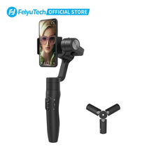 Feiyutech feiyu 3 eixo vimble 2s handheld smartphone cardan tripé estabilizador selfie vara com 180mm pólo para iphone 12 11