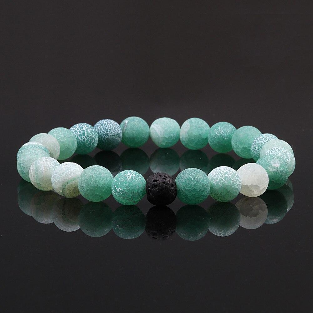 Couples Distance Bracelet Classic Natural Lava Stone 8mm Beads Bracelets For Men Women Best Friend Fashion Yoga Jewelry Homme