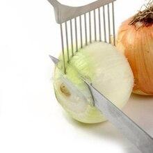 Многоцелевой лукорезка из нержавеющей стали пластиковый слайсер для овощей резак для томатов металлическая игла для мяса кухонные принадлежности гаджеты