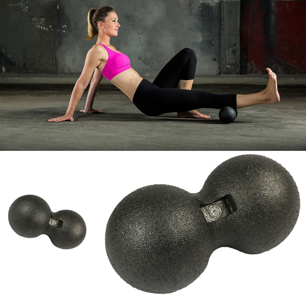 Fitness Self-Massage Ball Peanut Massage Ball Double Lacrosse Ball Trigger Point Pain Release Relieve Stress Sports Exercis 427