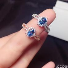 KJJEAXCMY fine jewelry 925 sterling silver inlaid natural sapphire new Female adjustable ring vintage Support test hot selling kjjeaxcmy fine jewelry 925 sterling silver inlaid natural lapis new female adjustable ring popular support test hot selling