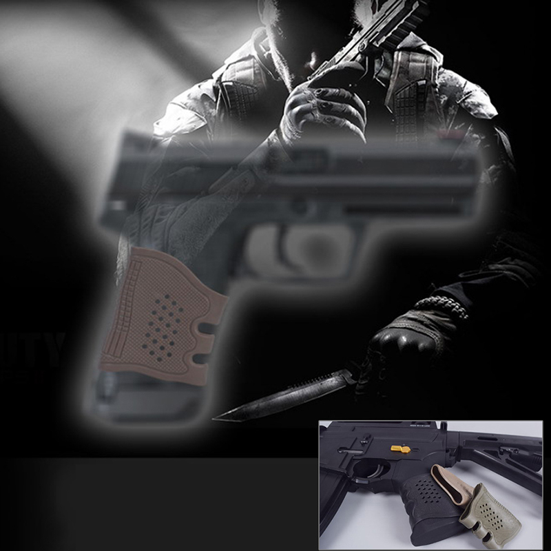 Free Shipping Russia New Tactical Handgun Pistol Rubber Protect Cover Grip Glove Universal Anti Slip Holster Hunting Accessories