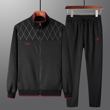 Autumn Winter Men Sport Suit Zip Up Coat Jacket Sweatshirt+pant Casual Jogger Running Workout Outfit Set Sweatsuits