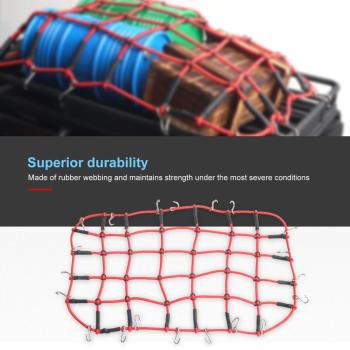 Universal Bungee Cargo Net Mesh Storage Luggage Cargo Roof Rack Net Decorative Accessories For 1/10 RC Car Crawler D90 Traxxas T image
