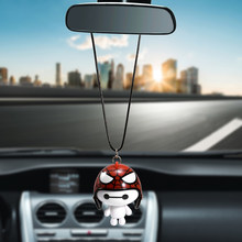 Car Pendant Cute Helmet Baymax Robot Doll Hanging Ornaments Automobiles Rearview Mirror Suspension Decoration Accessories Gifts(China)