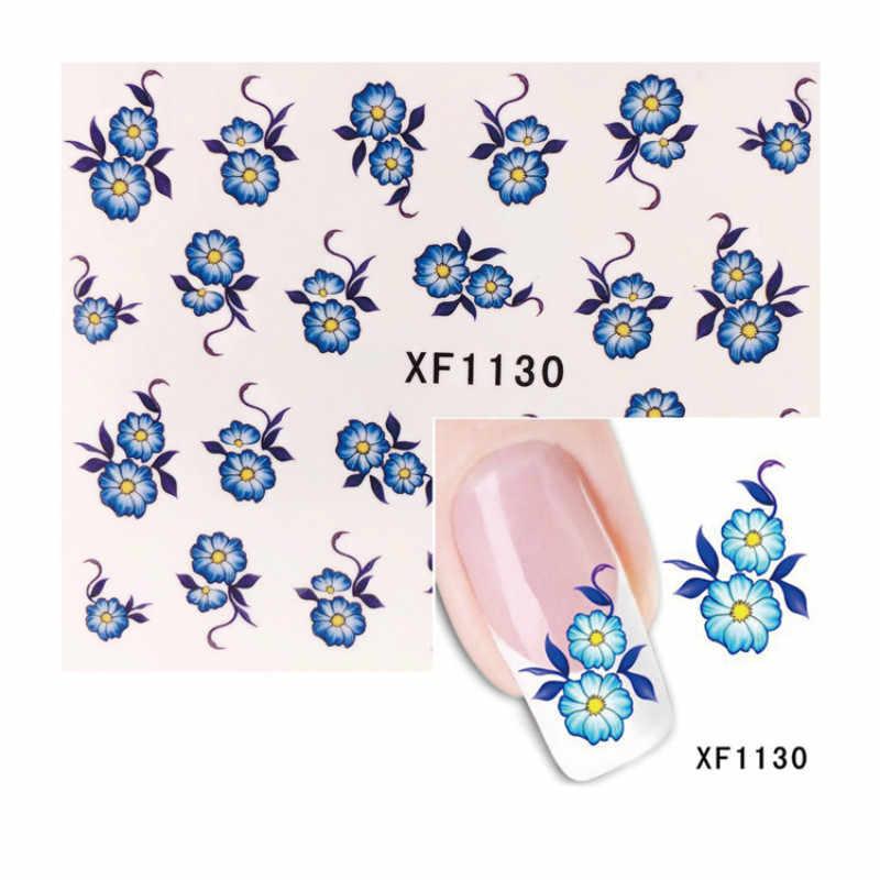 1 Uds. Rosa Blanca flores coloridas esmalte de uñas manicura Semi permanente UV LED Gel barniz empapa del esmalte de uñas en Gel artístico