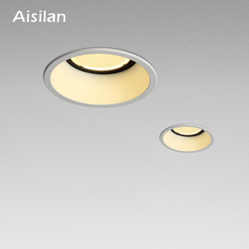 Aisilan Recessed LED Modern Dimmable Downlight Angle Adjustable Built-in LED Spot light Narrow border 7W for Indoor Lighting