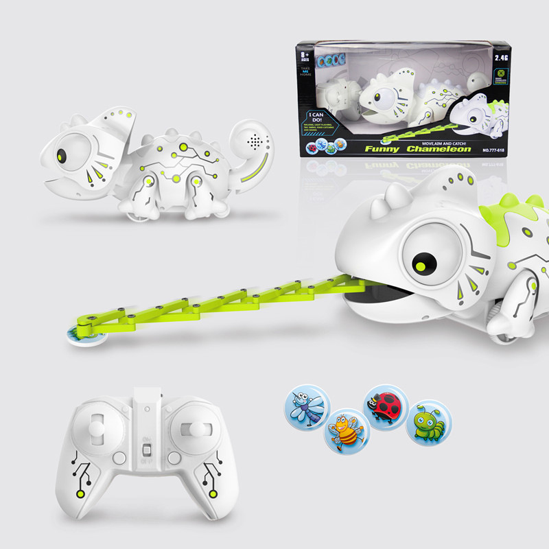 Electric Toys Smart Machine Pet Remote Control Chameleon With Sound Remote Control Predation Educational Creative Toy